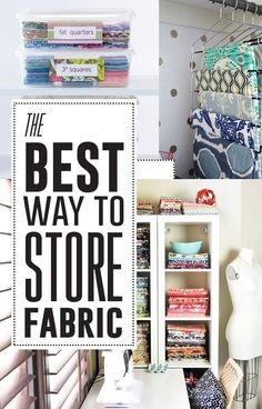 Re-organizing your craft closet? Check out these amazing and creative ways to store your fabric.