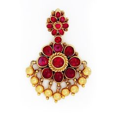 pendants | | GRT Jewellers|| Traditional South Indian Ruby Padakam