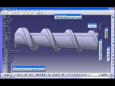 *A* impeller catia v5 gsd training - sweep with laws - YouTube