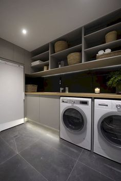 Simple and clean modern laundry room that fit into contemporary homes (7)