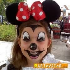Image result for minnie mouse face makeup