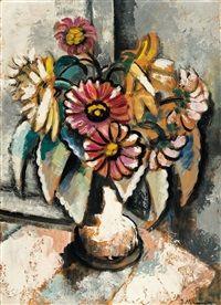 Blumen in weißer Vase by Jeanne Mammen