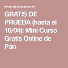 GRATIS DE PRUEBA (hasta el 16/04): Mini Curso Gratis Online de Pan
