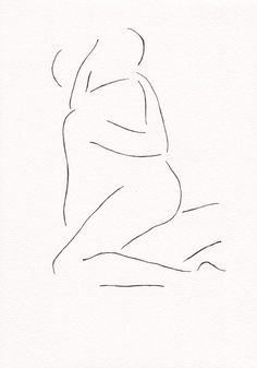 Black and white original ink drawing. Erotic bedroom art. Lovers illustration…