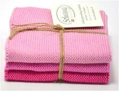 Solwang Danish knitted washcloths