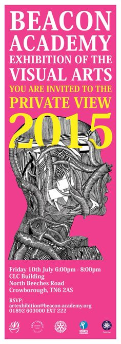 Beacon Art Exhibition Invite 2015 - design by RR in Yr13. July 2015