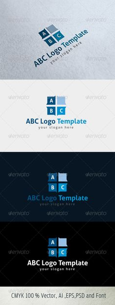 ABC Text - Logo Design Template Vector #logotype Download it here: http://graphicriver.net/item/abc-text-logo-template/4913366?s_rank=579?ref=nesto