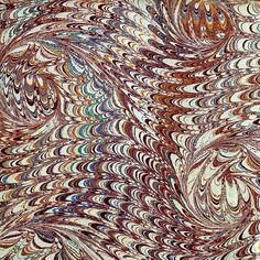 This swirling combed paper appears inside a 700+ page genealogy of the Bartholomew family, published in 1883 in Austin, Texas.  We love the pattern for #marbledmonday, and also the fact that it appears in a genealogy.  Our genealogical collection gets heavy use by readers both in the library and through online resources like Ancestry. #genealogy #marbling #austintx