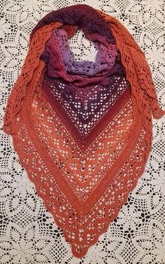 Klaziena Shawl - Claudia Kaewkun - Klaziena Shawl This shawl design is dedicated to the memory of Klaziena McKinlay Swanson (nee Greve) — beloved mother of Sharon Hill of the Southside Sweeties Crochet Group, Beenleigh Bowls Club. Crochet Shawls And Wraps, Crochet Poncho, Knitted Shawls, Crochet Scarves, Crochet Yarn, Crochet Clothes, Crochet Stitches, Crochet Vests, Crochet Edgings