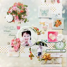 My Creative Scrapbook  LM Kit aug 2014~sweet~ - Strawberry Fields collection from Webster's Pages