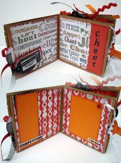 I Love 2 Cheer Cheerleader Paper Bag Scrapbook by apicketfencelife