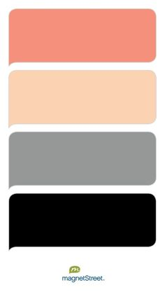 Coral, Peach, Classic Gray, and Black Wedding Color Palette - custom color palette created at MagnetStreet.com