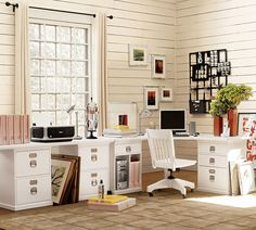 Since I've become much more active on my computer now that I'm blogging, doing finances, checking email, and shopping researching, I really need a much better way of organizing my work space.  Here's what I have… And here's what I'd like to have…. Pottery Barn Office System with a sleek, new laptop.  Well,  what I...