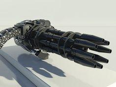 Futuristic Gatling Gun - $49