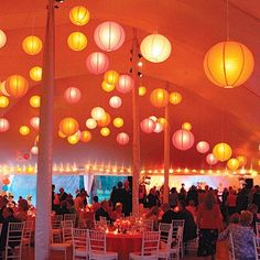 I love the lanterns! They make the reception.