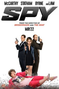 Directed by Paul Feig. With Melissa McCarthy, Rose Byrne, Jude Law, Jason Statham. A desk-bound CIA analyst volunteers to go undercover to infiltrate the world of a deadly arms dealer, and prevent diabolical global disaster. Funny Movies, Comedy Movies, Great Movies, Hd Movies, Movies Online, Movies Free, Jude Law, Rose Byrne, Film Watch