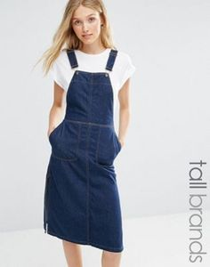 Vero Moda Tall Denim Dungaree Dress