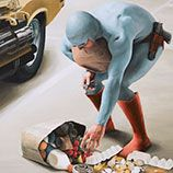 even a super hero can have a bad day.