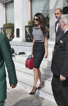 Amal Clooney and the Ladylike Hat-Box Purse - Vogue