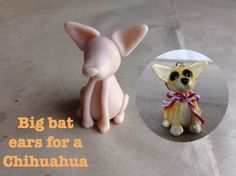 I have been working on polymer clay sculpted dog breeds. These make Pur-fect Christmas ornaments and I was going to post these for Christmas but I ran out of time. Polymer Clay Cat, Polymer Clay Ornaments, Polymer Clay Creations, Clay Cats, Cute Chihuahua, Dog Crafts, Polymers, Chihuahuas, Ears