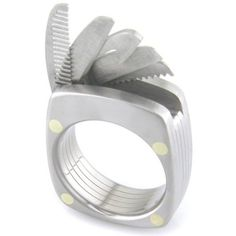 """Take my money! """"Lord of the Rings"""" Bruce Boone gives men a stylish convenience.  Swiss Army Ring!"""