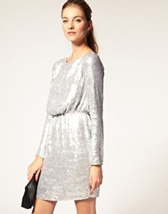 ASOS Sequin Dress with Long Sleeves - StyleSays