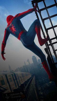 Top Spiderman Wallpapers - Homecoming, Into the Spider-Verse - Update Freak Marvel Fan, Marvel Heroes, Marvel Avengers, Marvel Comics, Marvel Cartoons, Avengers Superheroes, Wallpaper Animes, Man Wallpaper, Marvel Wallpaper