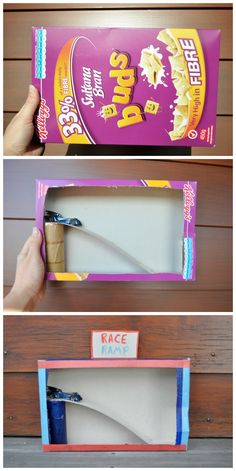 Cereal Box Race Ramp