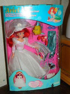 Disneys The Little Mermaid - Ariel Doll 1993 Tyco Mermaid Barbie, Barbie I, Vintage Barbie Dolls, Old Disney, Disney Dolls, Vintage Disney, Retro Toys, Vintage Toys, Vintage Stuff