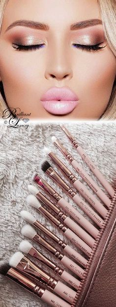 Brilliant Luxury ♦ Trend 2018 ~ rose gold makeup and brushes