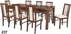 Stół rozkładany i 8 krzeseł - komplet 37