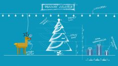 Motion Graphics, Christmas card, deer, christmas tree