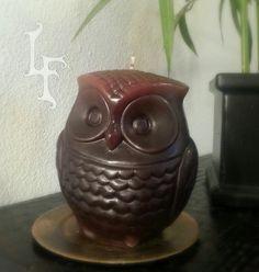 Retro Owl Candle on Etsy, $11.00