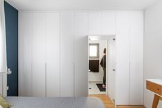 shower behind a closet designed by: Meital irany & sivan goldfeld photo by: shiran carmel Tall Cabinet Storage, Shower, House Styles, Closet, Furniture, Design, Home Decor, Rain Shower Heads, Armoire