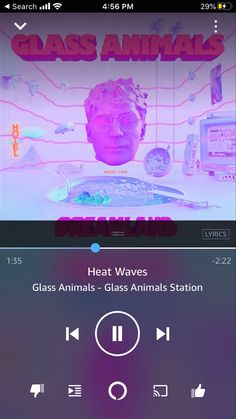 Heat Waves - Glass Animals #aff Most Popular Artists, Indie Pop, Pop Songs, Glass Animals, Try It Free, Lyrics, How To Apply, Waves, Album