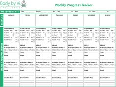 Body by Vi Weekly Progress Tracker