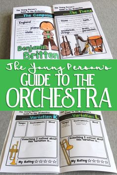 The Young Person's Guide to the Orchestra Listening Journal & Fact Sheets Kindergarten Music, Preschool Music, Music Activities, Teaching Orchestra, Piano Teaching, Music Lesson Plans, Music Lessons, General Music Classroom, Music Journal