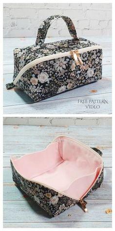 Bag Patterns To Sew, Sewing Patterns Free, Free Sewing, Bag Pattern Free, Simple Pattern, Pattern Sewing, Sewing Diy, Retro Pattern, Pattern Fabric