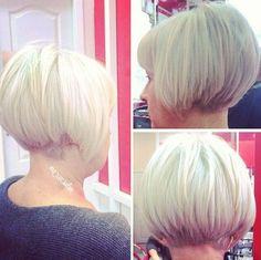 short bob hairstyle for older women