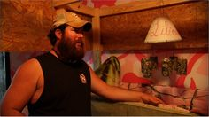 Now this is a redneck nursery! Baby bed made out of a huntin' stand and a beer can mobile. Watch the season finale of My Big Redneck Vacation Saturday at 9/8c.