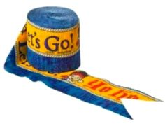 "[Single Pack] Crepe Paper Streamer Roll ""Jake + The Neverland Pirates Yo Ho Let's Go Design"" for Decoration and Craft Supply with 30' Ft / 9.1 M Length (Yellow, Blue, and Red Colors)"
