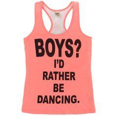 Boys? I'd Rather Be Dancing Tank