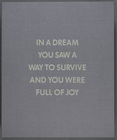 Jenny Holzer, Selection from the Survival Series | Cleveland Museum of Art