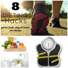Looking to get in shape and get fit this year?  These dieting hacks will help you get on track, stay on track and meet your goals!