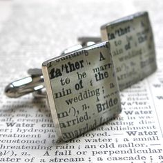 Father of the Bride Sterling Silver Square Cufflinks