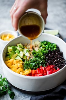This healthy mango black bean quinoa salad with avocado will be your favorite easy lunch or summer salad to bring to parties. Dressed with a yummy honey chipotle lime dressing for vibrant, bright flavor. It stays good in the fridge for days and can be made ahead of time.