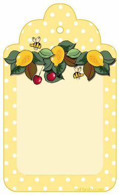 Lemon-gift tag with lemon curd cookies Printable Labels, Printable Paper, Free Printables, Card Tags, Gift Tags, Red Brolly, Etiquette Vintage, Decoupage, Handmade Tags