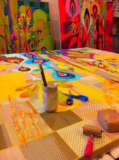 Rex Ray paints patterns, then cuts & collages them Art And Illustration, Pintura Graffiti, Wow Art, Arte Popular, Art Plastique, Artist Art, Art Techniques, Art Studios, Art Education