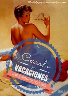 Cerrado por vacaciones, by Rakel Felipe Happy Summer Holidays, Wonder Woman, Wrestling, Superhero, Vacation, Motivation, Funny, Infographics, Madrid