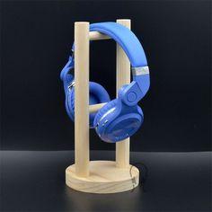 New DIY Real Wood Wooden Design Professional Headset Headphone Stand Holder Headphone